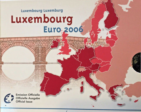 2006 Luxembourg 8 Coins Official Euro Set Special Edition