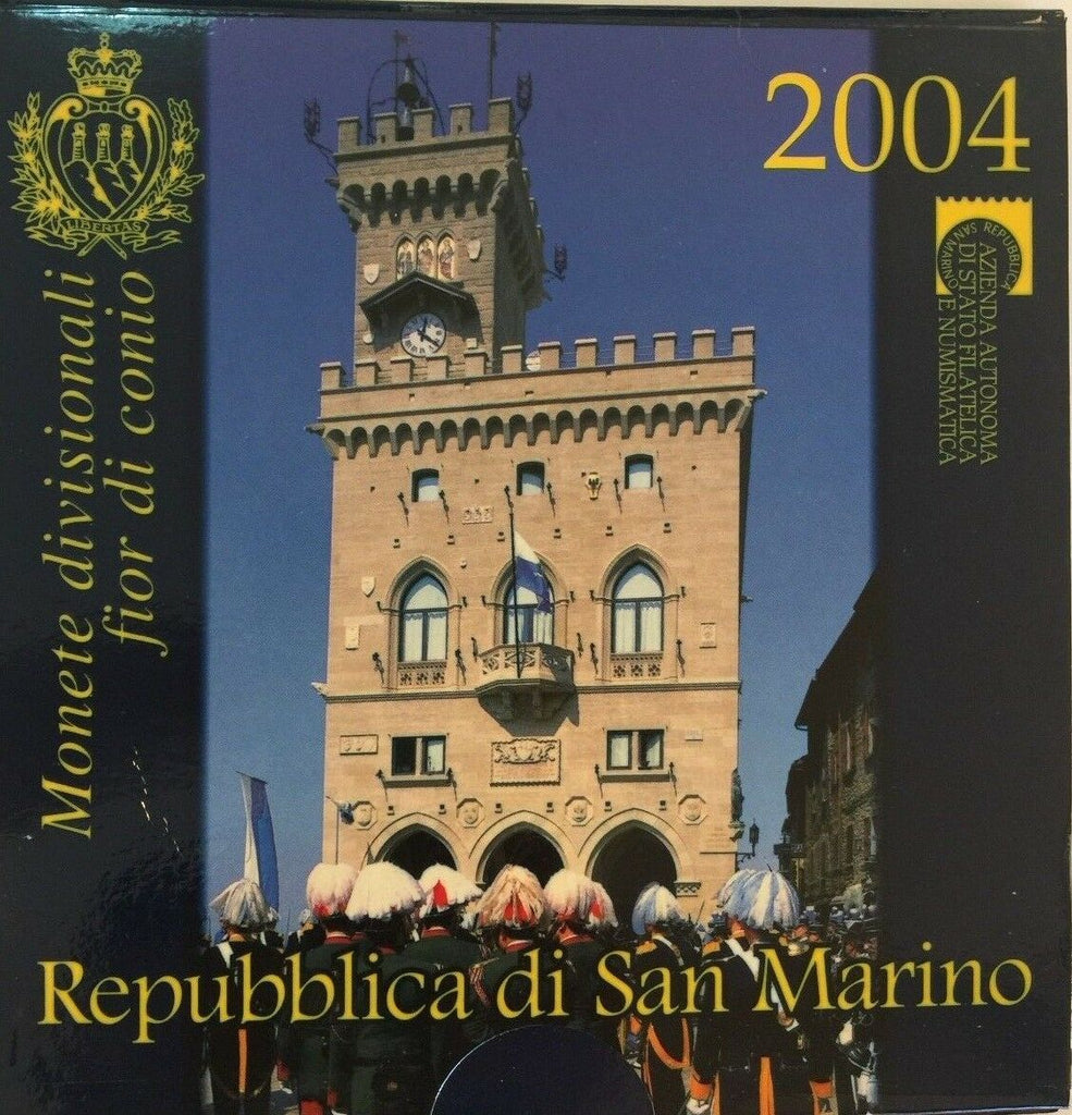 San Marino 2004 Official Euro Proof Set 9 Coins Silver 5€ perfect condition