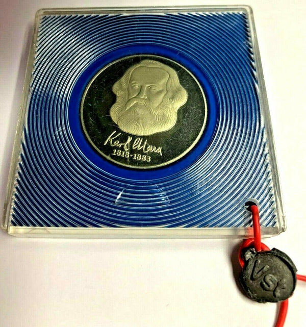 Germany DDR 1983 Silver Proof 20 Mark 100th Ann. Death Karl Marx Mintage-6,000