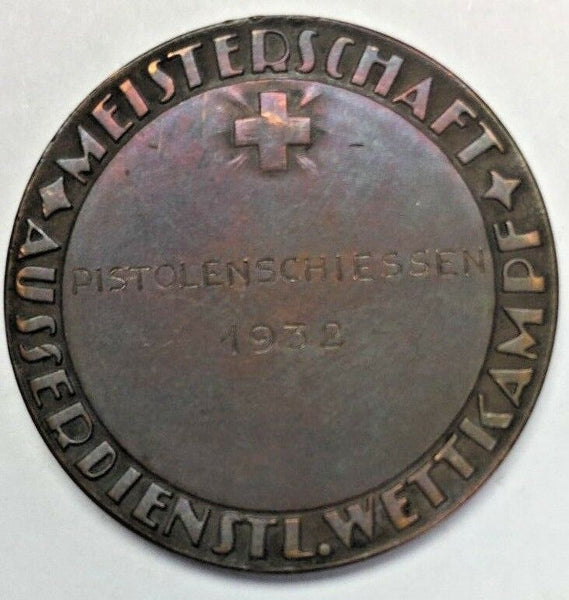 Extremely Rare Swiss 1932 Medal Shooting Fest Luzern R-907c RRR