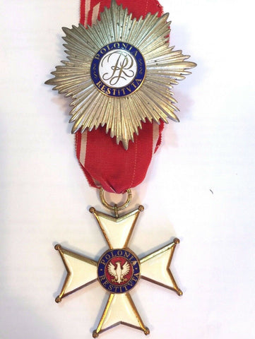 1944 Polonia Restituta Commanders Cross with Star Order Poland