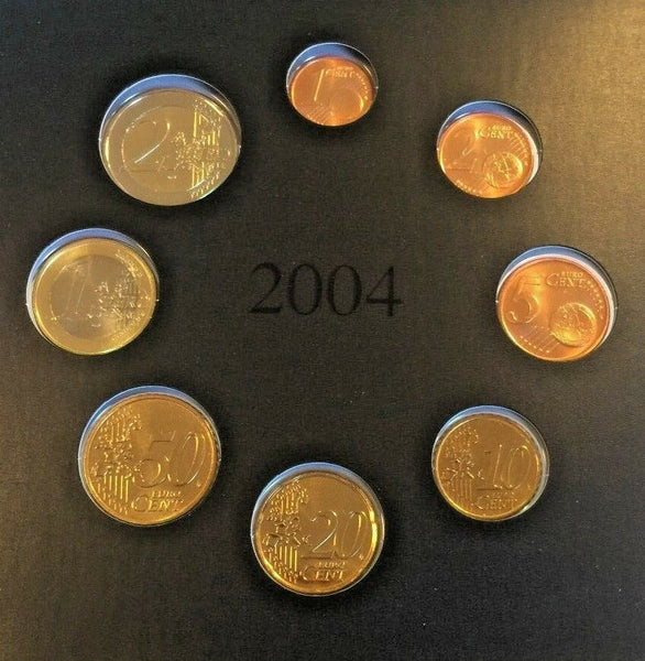 Portugal 2004 Complete Official Euro Proof Set 8 Coins COA