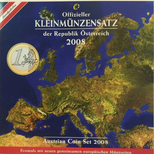 Austria 2008 Official Euro Set 8 Coins Special Edition