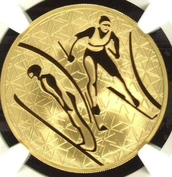 Russia 2010 Gold 200 Roubles 1oz Winter Sport Nordic Combined NGC PF70 Mint-500