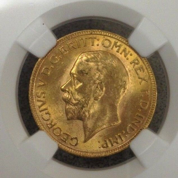 South Africa 1930 SA Gold Coin Full Sovereign King George V NGC MS63
