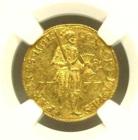 Netherlands 1777 Gold Coin Ducat Holland NGC MS61