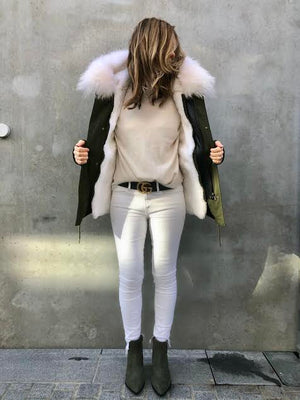 Barb Parka White Fur