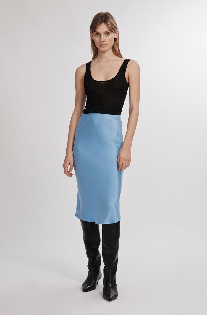 Bias Cut Skirt Airy Blue