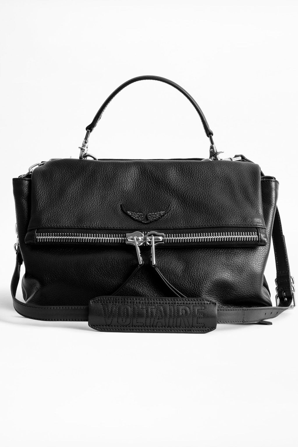 Twins Zip Grained Bag Noir