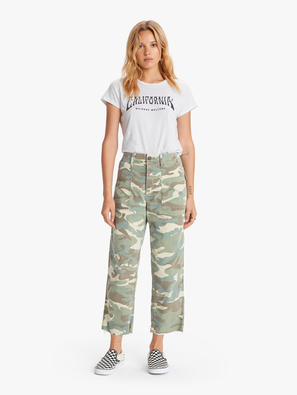 The Patch Pocket Private Ankle Fray Camouflage