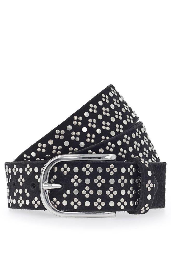 Tessa Belt Silver Black