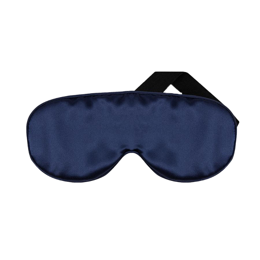 Silk Eye Mask Navy