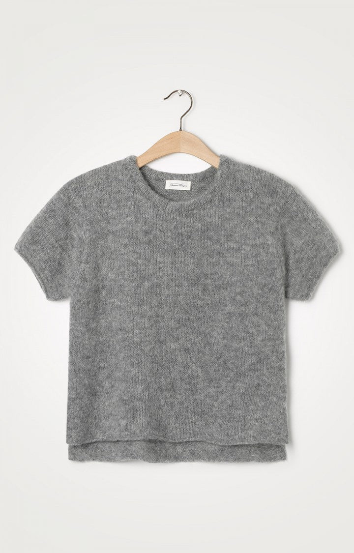 Vacaville Short Sleeve Jumper Grey Melange