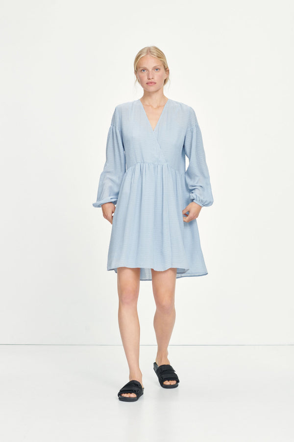 Jolie Short Dress Dusty Blue