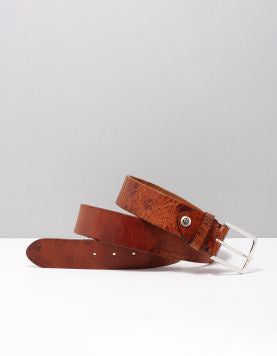 Zac Belt Brown Leather