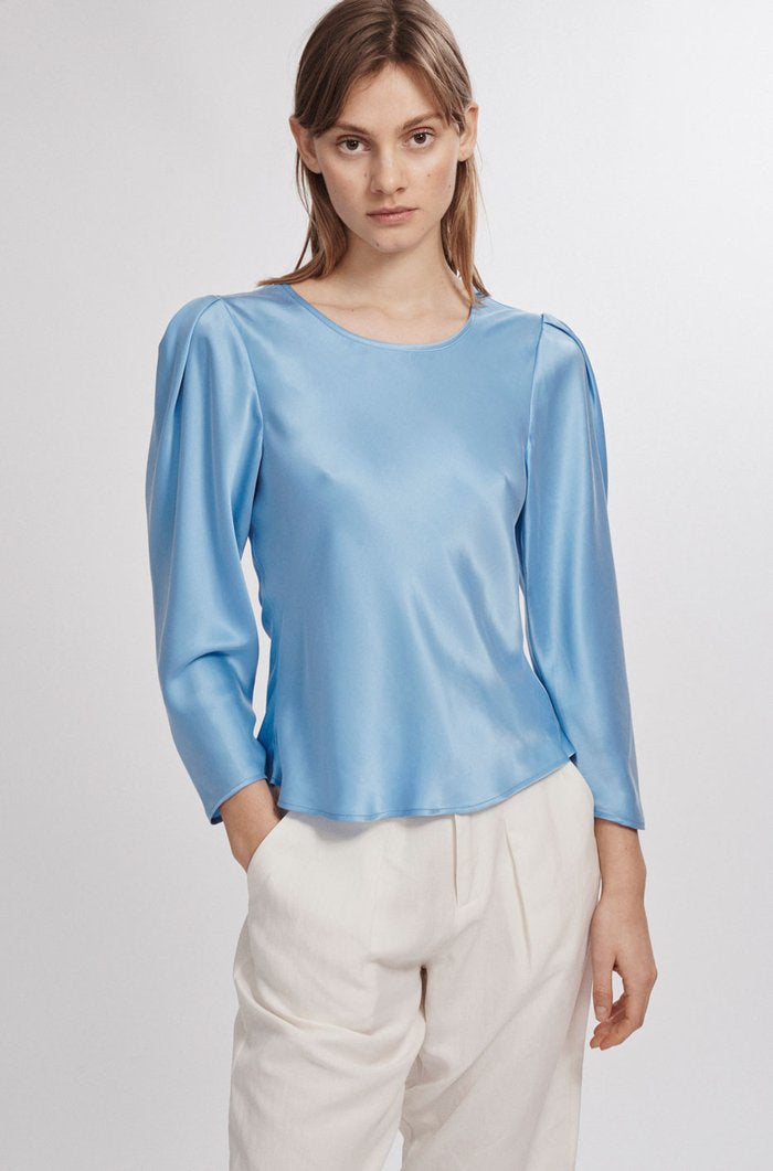 Origami Sleeve Top Airy Blue