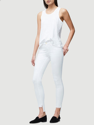 Le Skinny De Jeanne Raw Stagger Blanc