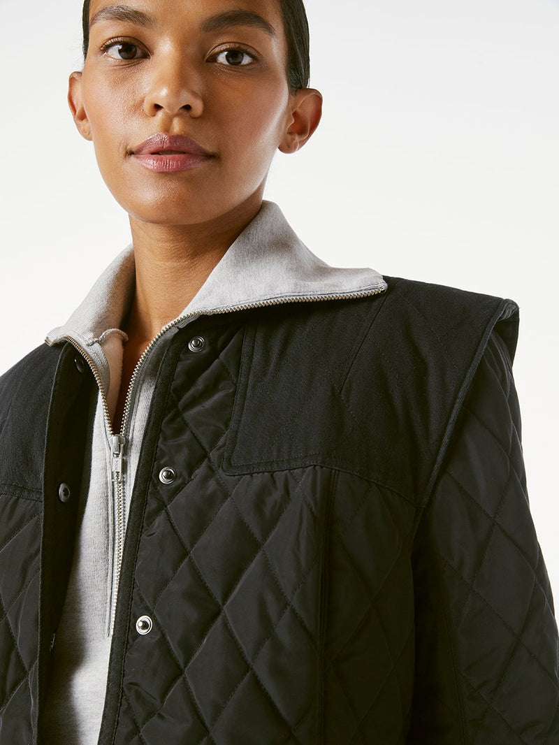 Quilted Town Jacket Noir