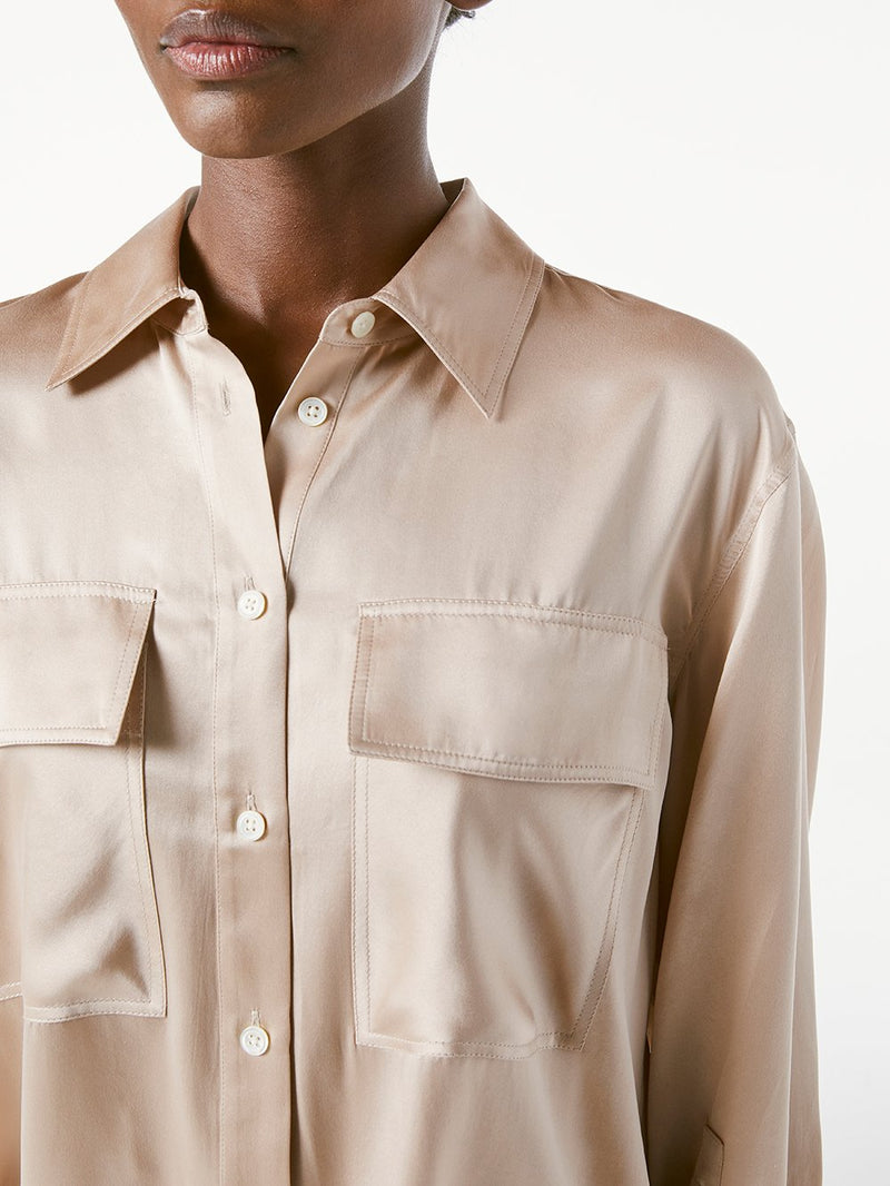 Silk Boyfriend Shirt Bare