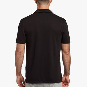 Sueded Jersey Polo Black