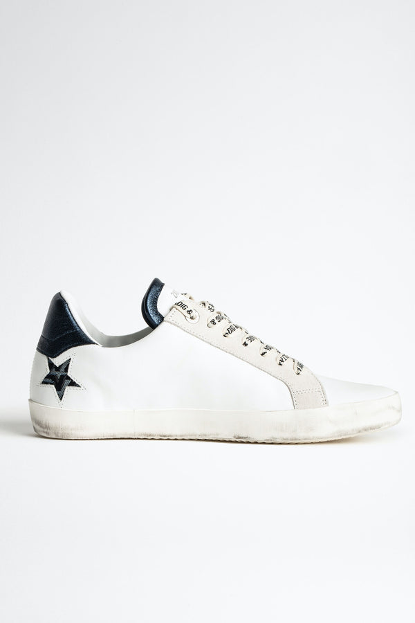 Zadig Used Star Sneakers White Steel