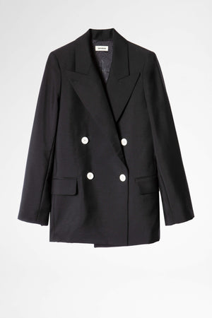 View Smoking Blazer Black