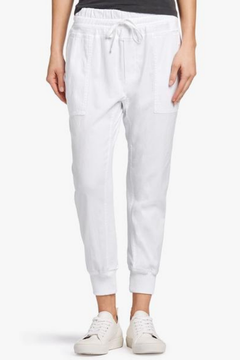 Mixed Media Pant White