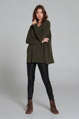 Zoe Cashmere V-Neck Hunter