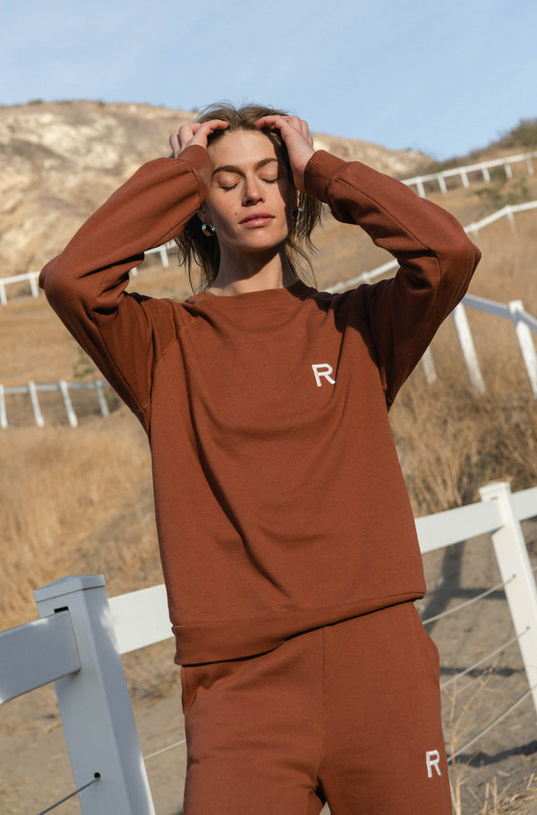 Oversized Sweatshirt Rust