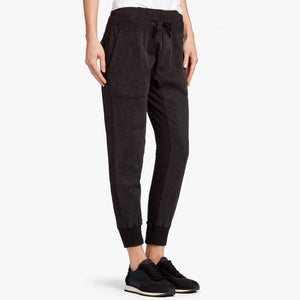 Mixed Media Pant Black