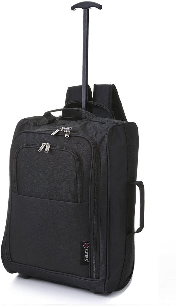 5 Cities Extra Value Hand Luggage Cabin Bundle Sets, Trolley Bag and Travel Trolley Backpack 2 & 3 Piece Sets for Easyjet & Ryanair! - Packed Direct UK