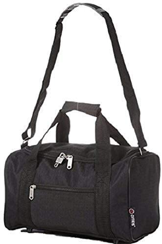5 Cities Set Of 2 Ryanair Cabin Approved Main and Second Carry On Both Hand Luggage, 54 cm, 42.0 L, Black - Packed Direct UK