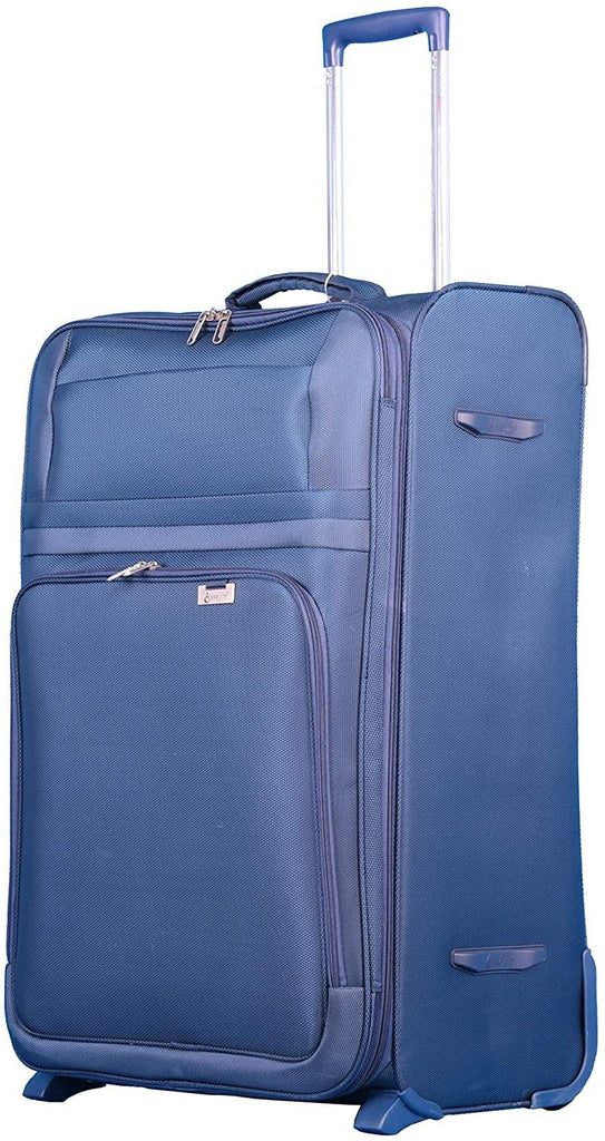 "Aerolite Ultra Lightweight Expandable 2 Wheel Travel Trolley 3 Piece Suitcase Luggage Set, 21"" Hand Cabin Case + Medium 26"" + Large 29"" Hold Check in Luggage Suitcase, Navy Blue - Packed Direct UK"