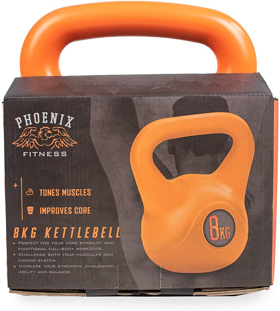 Phoenix Fitness Heavy Weight Kettle Bell for Strength Cardio Training - Kettlebells for Home and Gym Fitness Workout for Bodybuilding Weight Lifting - Single - Packed Direct UK