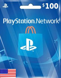 PSN Gift Card US $100
