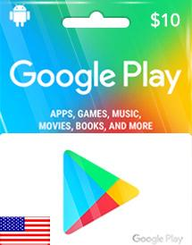 Google Play Gift Card US 10$