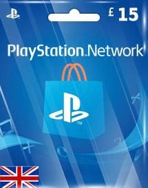 PSN Gift Card UK £15