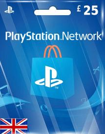 PSN Gift Card UK £25