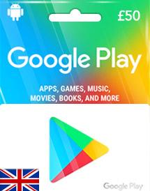 google play gift card £50