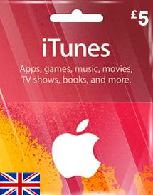iTunes Gift Card UK £5