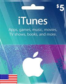 iTunes Gift Card US $5