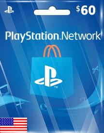PSN Gift Card US $60
