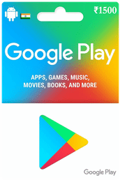 Google Play Gift Card IND ₹1500