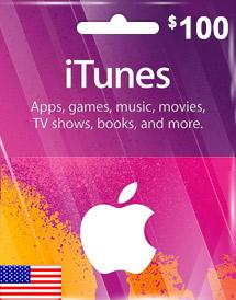iTunes Gift Card US $100