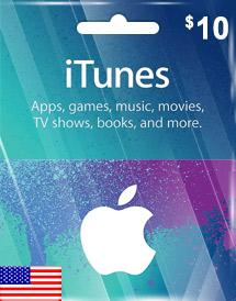 iTunes Gift Card US $10