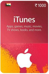 iTunes gift card ₹1000