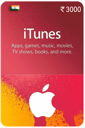 iTunes Gift Card IND ₹3000