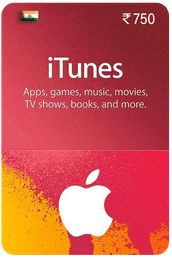 ₹750 iTunes gift card