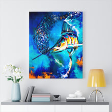 Load image into Gallery viewer, Sticky Situation - Wall art Print on Canvas-Ready to hang Painting, Tropical  Art Print Home & Wall Decor