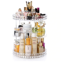 Load image into Gallery viewer, KILIMA ACRYLIC ROTATING MAKEUP ORGANIZER
